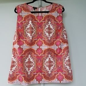 Talbots Pink Tank Top Shell Plus Size 24W Paisley